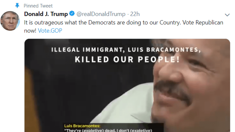 Trump Shares Racist Ad Taking Aim at Immigrants