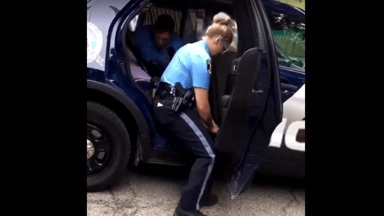 Video goes viral of Michigan Police Officer punching handcuffed Black teenage girl