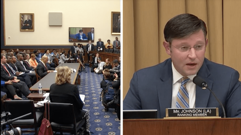 Rep Mike Johnson Uses his Black Son as a Pawn for Anti-Reparation Debate