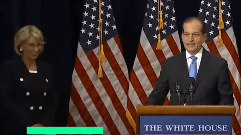 Labor Secretary Acosta Responds to Calls to Resign Over Epstein Case