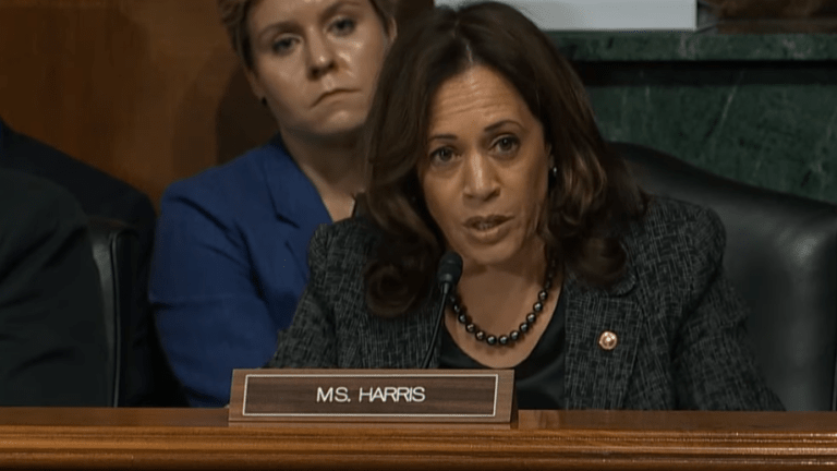 "Kamala Harris apologizes for laughing at ""mentally retarded"" comments on Trump"