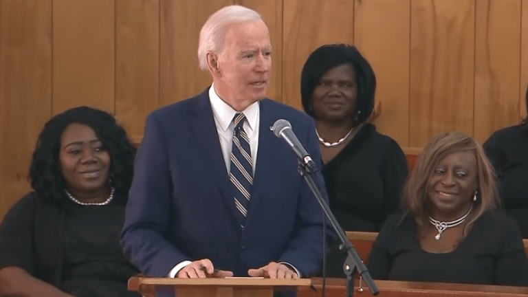 Biden condemns hate by mentioning Trump and K.K.K. in same sentence