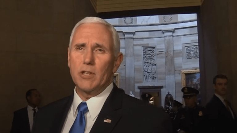 "Mike Pence: ""We'll have no deal without a wall."""