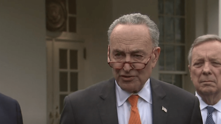 "Trump Refers to Schumer as ""Cryin Chuck"""