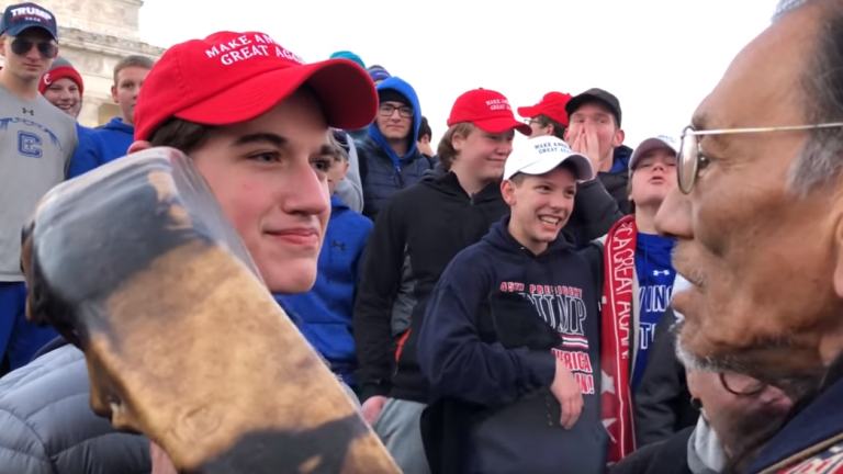 Twitter Blasts MAGA Teens who Mocked Native American