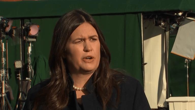 Sarah Sanders denies Roger Stone's arrest is linked to Trump