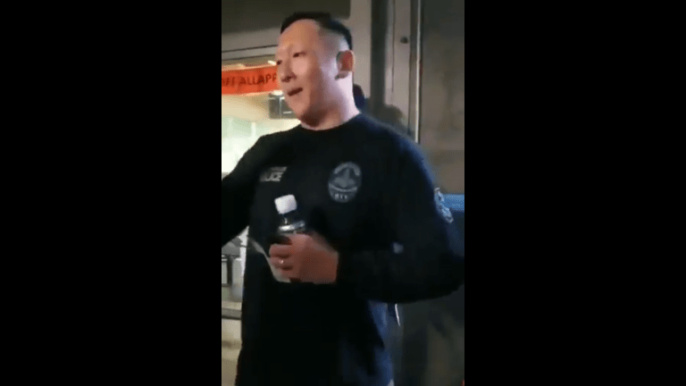 """LAPD denies man in viral video chanting """"White Power"""" is a cop"""