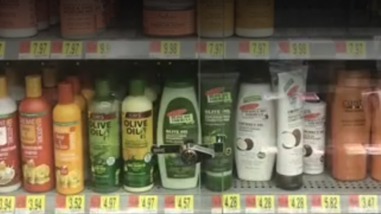 Walmart slammed for locking African-American hair products in glass case