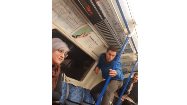 Black man records white Tube passenger taunting him with Monkey impression