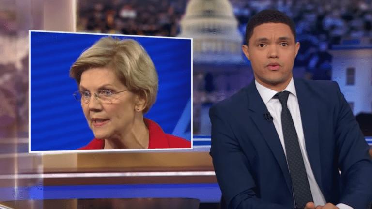 Trevor Noah mocks Sen. Elizabeth Warren over reparations stance